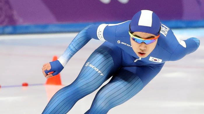[올림픽] 김민석, 빙속 남자 1,500m 깜짝 동메달…아시아선수 최초