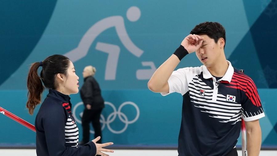 [올림픽 NOW] `1승 뒤 2연패` 컬링 믹스더블 장헤지-이기정, 노르웨이에 패배