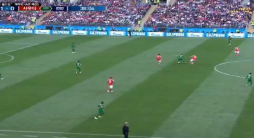 아프리카tv, 러시아 사우디 경기 초반에 원활하지 못했던 중계