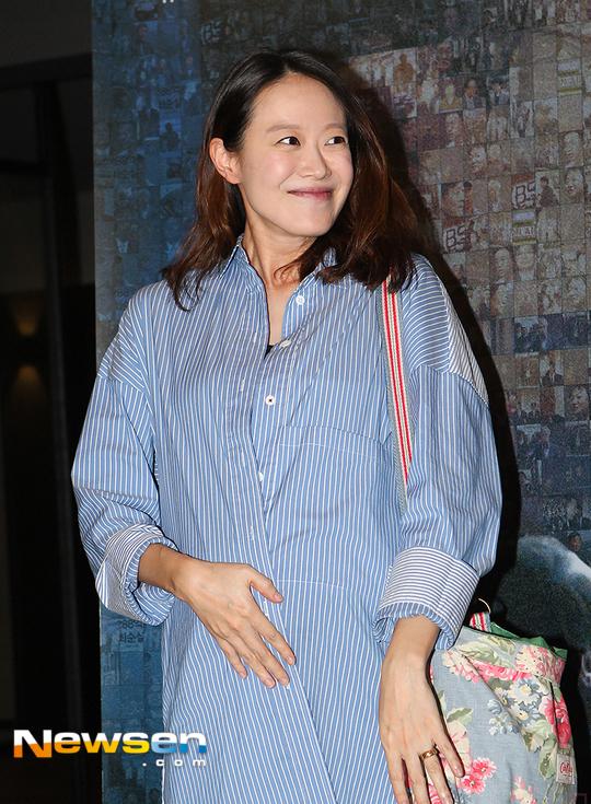 [포토엔HD]'임신' 문지애 아나운서, 영화 '공범자들' 시사회 참석
