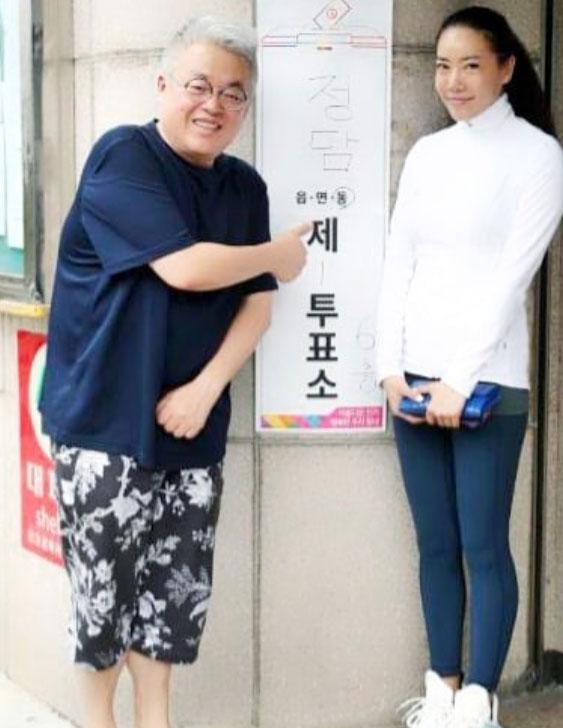 김형석·서진호 부부 지방선거 투표 완료… 투표소 앞 인증샷 공개