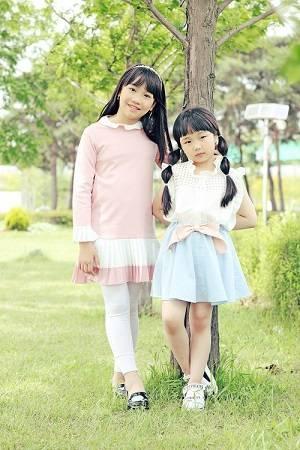 키아나엔터테인먼트 아역배우 왕형연, 이루희 어린이화보 촬영