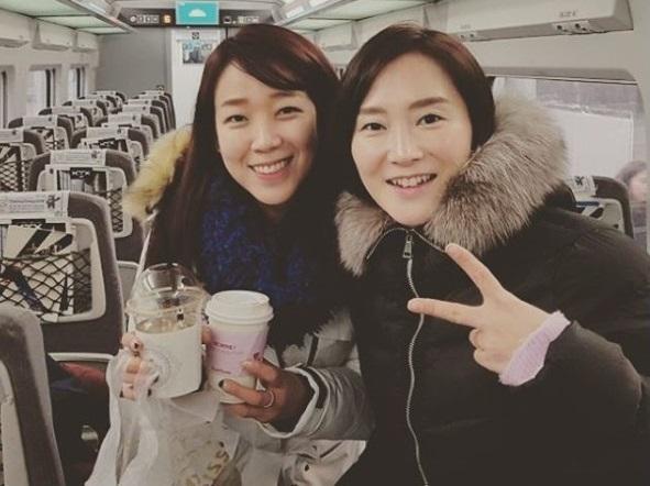 안상미-조해리, 여자 쇼트트랙 레전드의 훈훈 투샷 ¨숙녀의 향기가¨