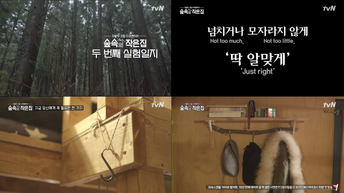 숲속의 작은 집 2회- 박신혜 소지섭, 일상과 숲 속 소리의 성찬에 취하다