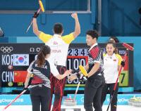 [올림픽]컬링 믹스더블 장혜지-이기정, 연장 혈투 끝 중국에 석패