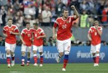 [러시아 사우디] 아르템 주바 쐐기골… 러시아, 사우디에 3-0 리드중