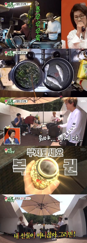 [TV온에어] '미우새' 토니, 어느덧 '불혹'…강타‧김재덕과 훈훈 생일파티