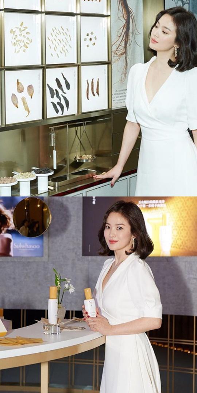 송혜교 중국 행사 참석 근황 공개…청순미 발산