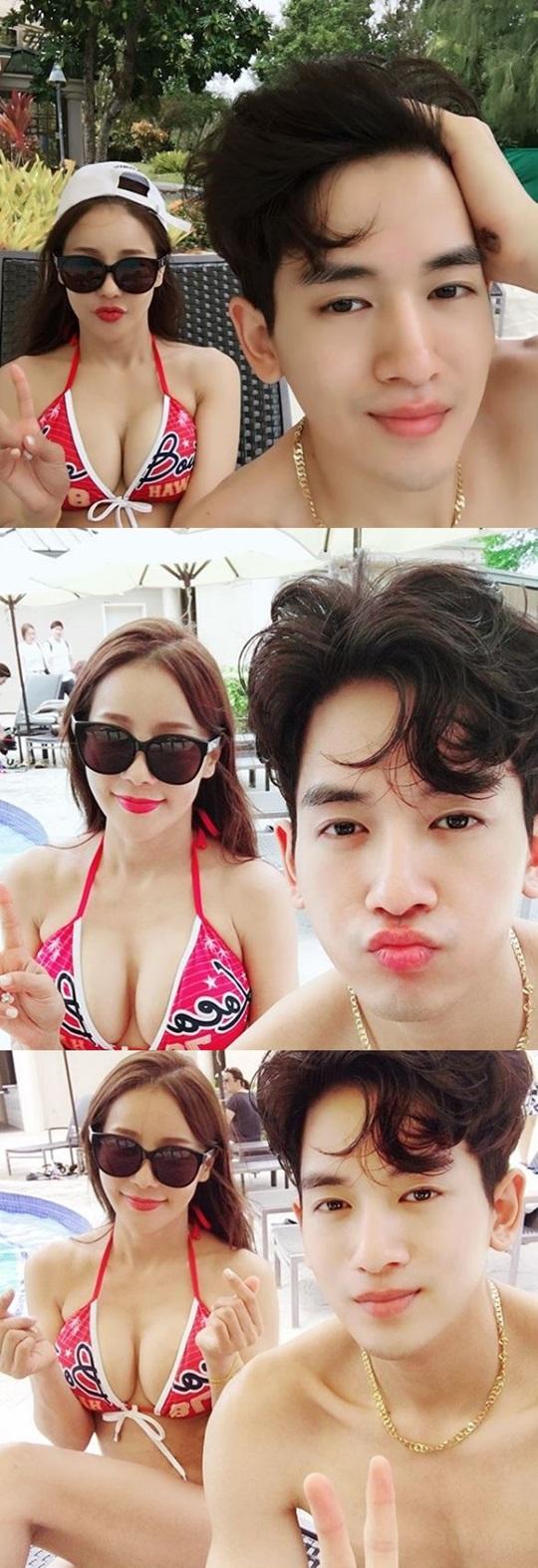 미나♥류필립, 괌 신혼여행 인증샷 공개…완벽 비키니 자태