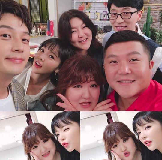 """'해피투게더3' 홍진영, 한혜연·이국주와 인증샷 """"친구란 좋은 것"""""""