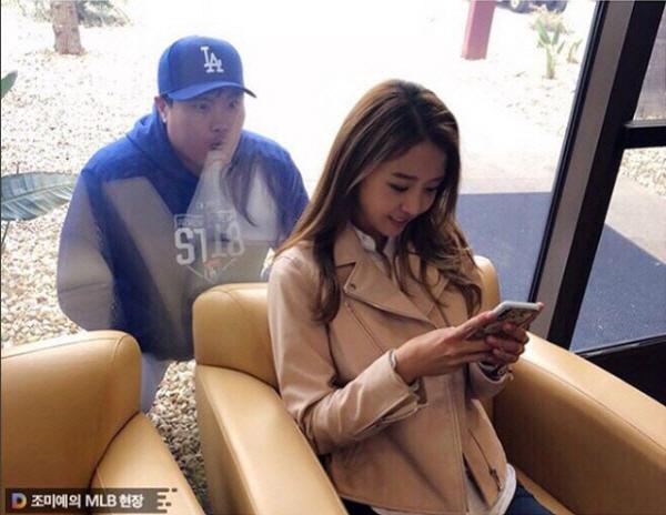 배지현, 류현진 경기 관람 포착 '달달한 신혼 생활 근황 보니'
