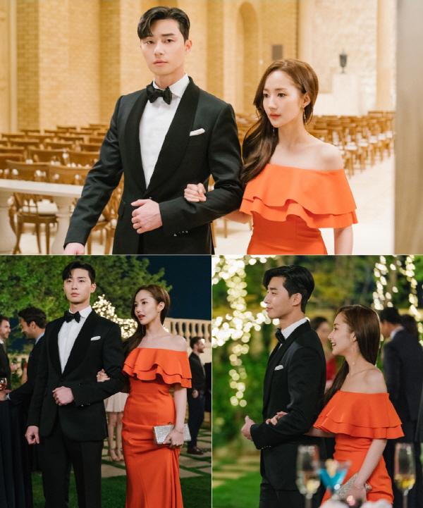 '김비서가 왜 그럴까' 박서준-박민영, 화보 뺨치는 두샷…퇴사밀당로맨스