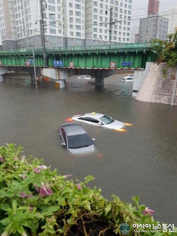 부산 시간당 116mm 폭우에 침수피해 잇따라