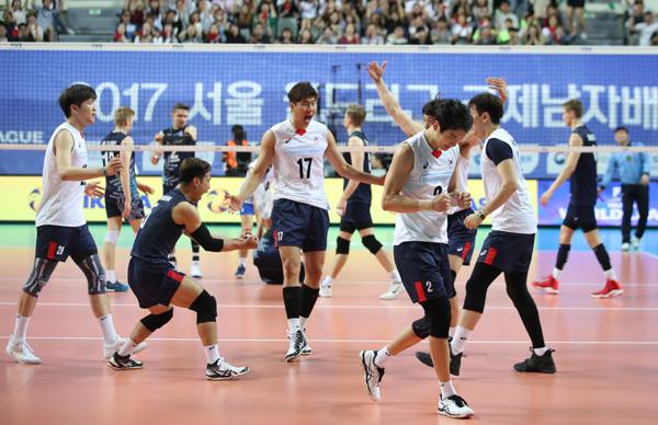 세대교체 한국 남자배구, 월드리그 22년만에 5승 수확