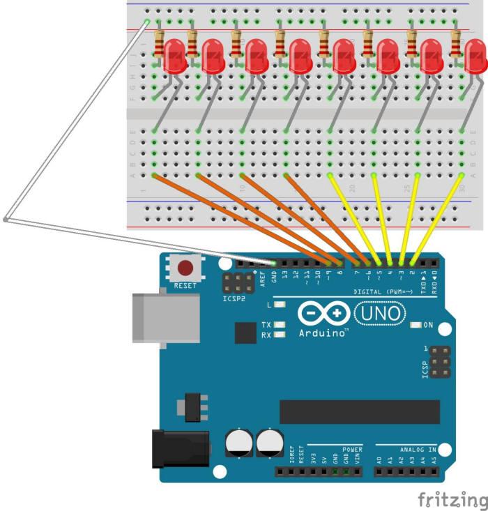 [아두이노야 놀자]&<4&>LED로 전광판 만들기