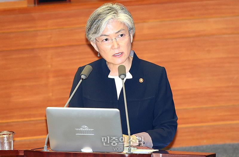 """공식석상서 강경화 장관에 """"하얀머리 멋있다"""" 발언한 김중로 의원"""