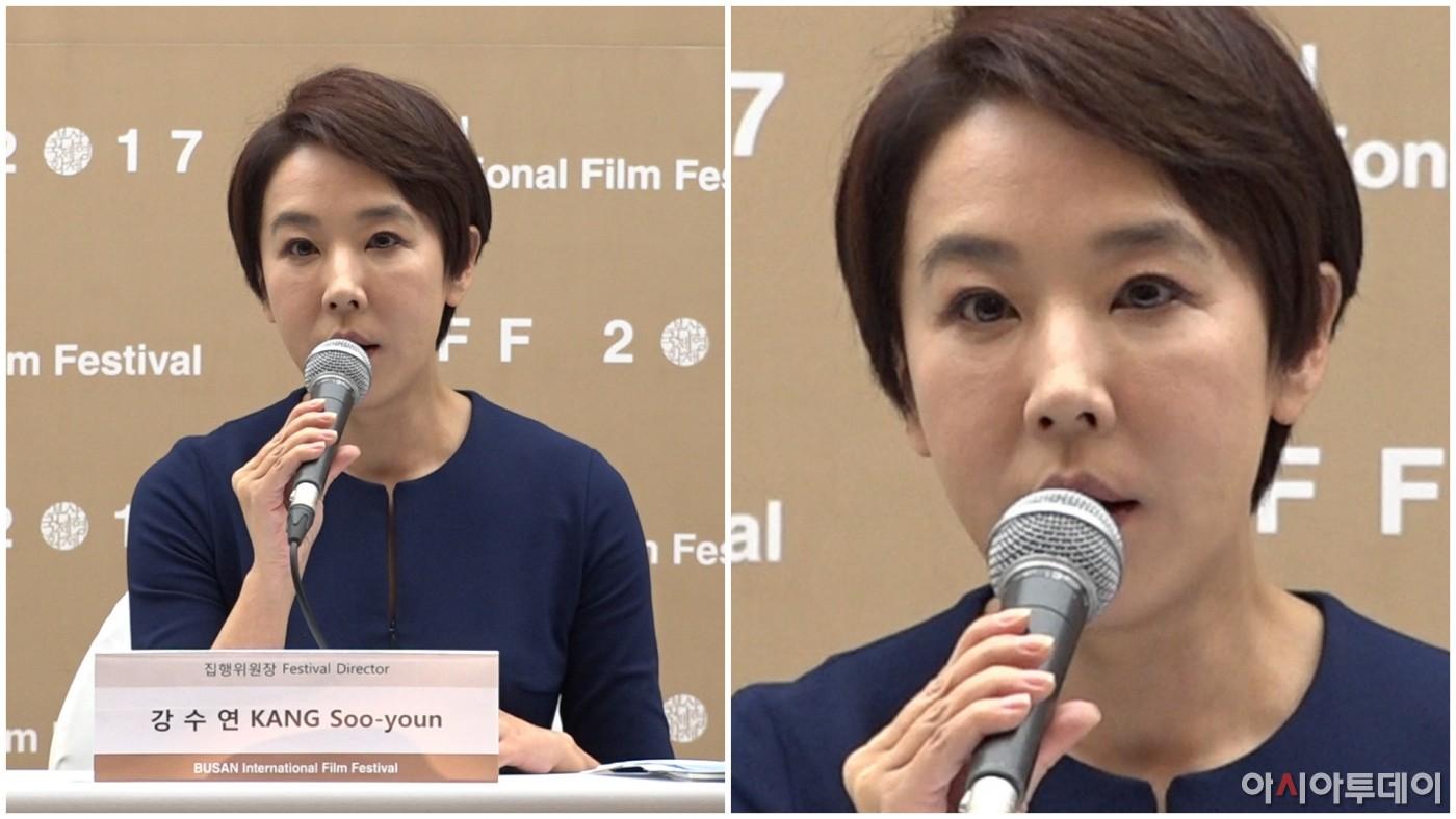 [PLAY▶무비] 강수연, `BIFF` 집행위원장 사퇴 ¨모든 책임은 내가...¨ (부산국제영화제 기자회견)