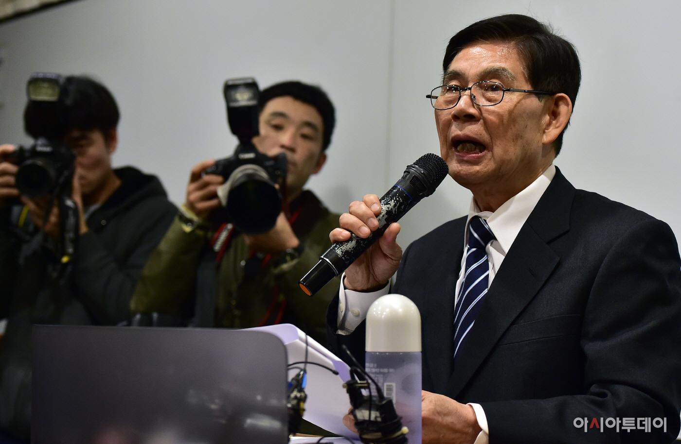 [포토] 정호영 전 BBK 특검 ``다스 120억 의혹 검찰 인계...검찰이 직무유기`