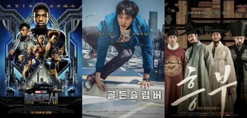 `블랙팬서` 14일 개봉, 압도적 예매율 기록 65.4%…2위는 `골든슬럼버`