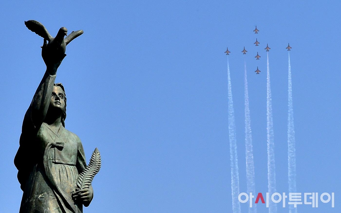 [포토] 공군 특수비행팀 블랙이글스