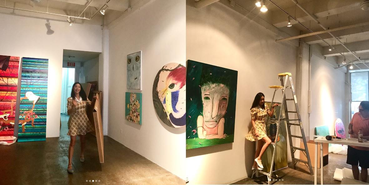 "[SNS근황] 이혜영, 뉴욕서 미술전시회 준비 모습보니...""화보같은 일상"""