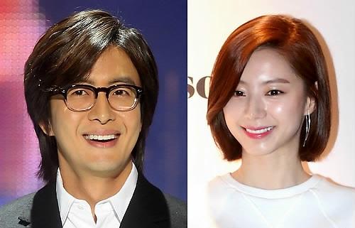 배용준♥박수진 부부 둘째 임신, 日 메인 톱 뉴스 장식…여전한 `욘사마` 인기