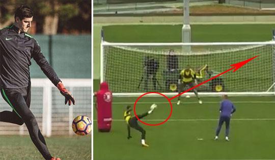 [영상] 첼시 수문장 쿠르투아, 팀 훈련서 회심의 `발리슛`
