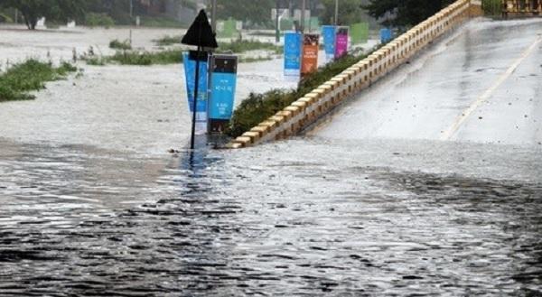 부산, 시간당 80mm 폭우 쏟아져 일부지역 마비