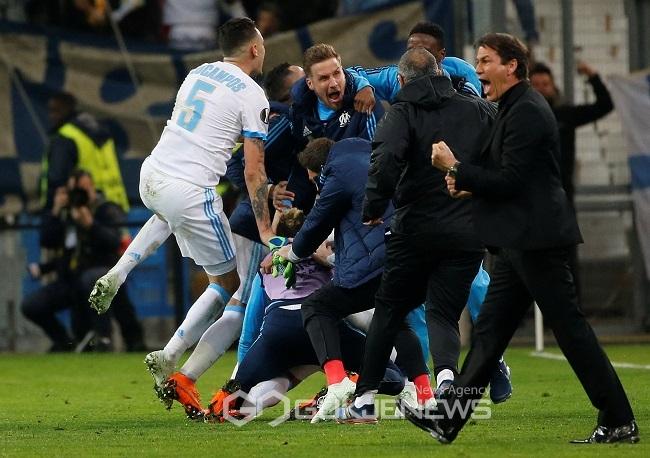 유로파리그 마르세유 라이프치히에 합계 5-3 승···준결승行