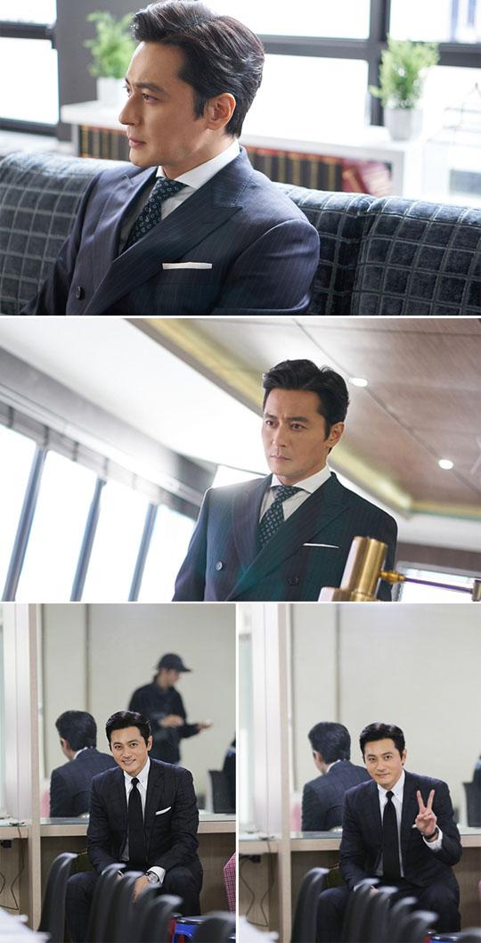 '슈츠' 장동건, 비하인드 스틸 공개…범접할 수 없는 아우라