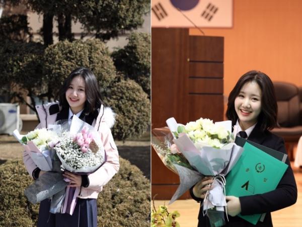 '동국대 새내기' 진지희, 고등학교 졸업+공로상 수상 겹경사…성수기 미모 인증샷