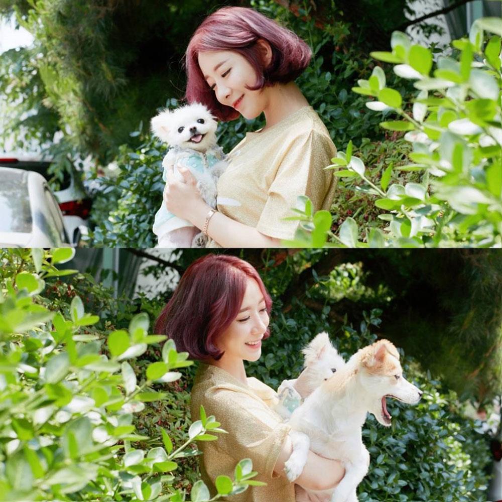 """[스타근황] 안소미, 청초한 비주얼 과시 """"강아지보다 귀여워"""""""