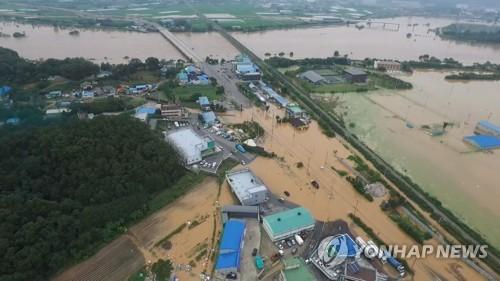 청주 290㎜ 물폭탄 피해 속출…사망 2명·실종 1명, 이재민 536명