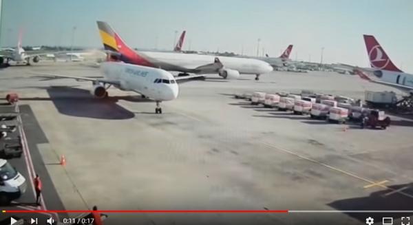 [영상] 아시아나 여객기, 터키서 다른 항공기와 충돌 '화재'…인명피해 없어