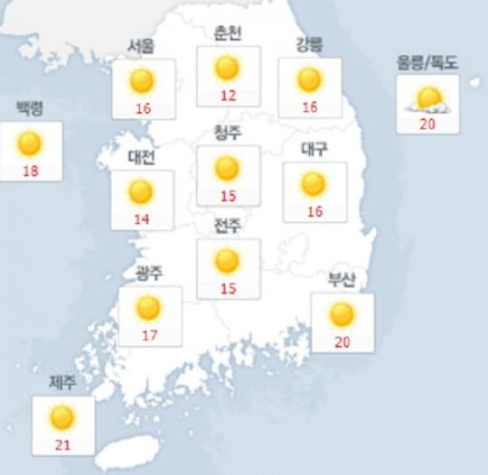[오늘날씨] 태풍 탈림 영향… 서울 16도· 한낮 26도, 부산 대구 광주 대전 등 전국 큰 일교차
