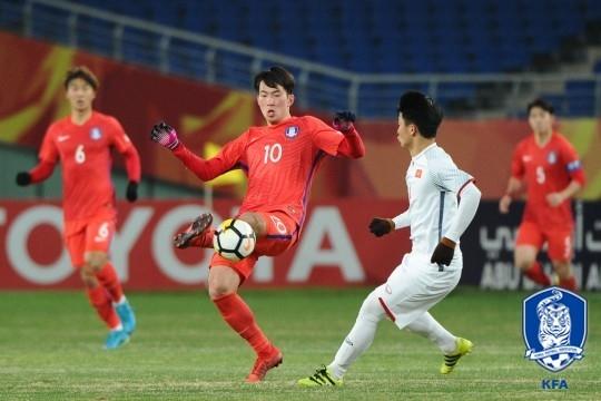 한국, AFC U-23서 베트남에 힘겨운 2대1 승리
