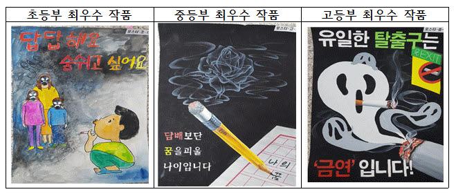 인천 북부교육지원청, 흡연예방교육 학생 작품 공모전 심사 알려