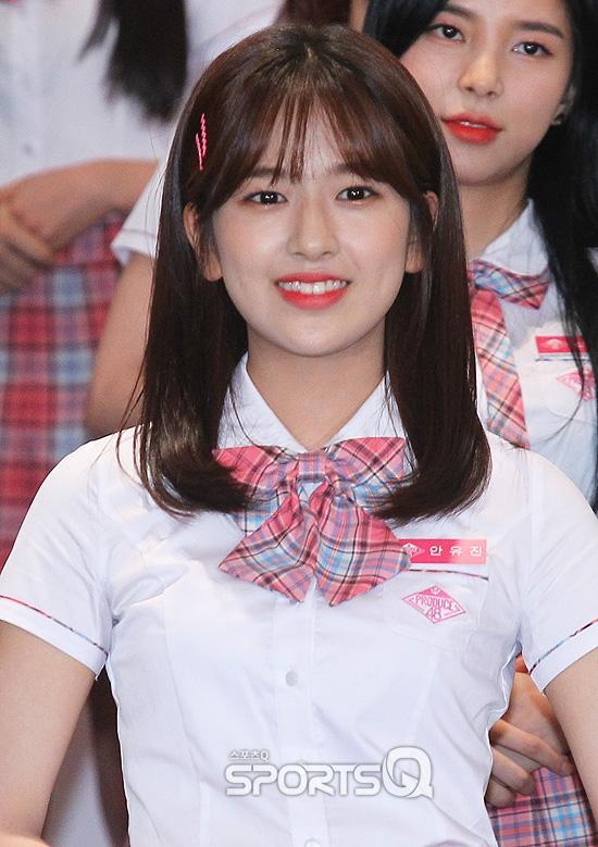 [포토Q] 안유진 '한 광고에서 선보였던 미소' (프로듀스 48 제작발표회)