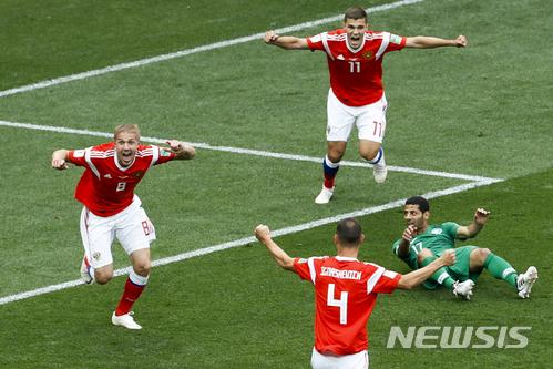 유리 가진스키-데니스 체리셰프, 2018 월드컵 개최국 파워