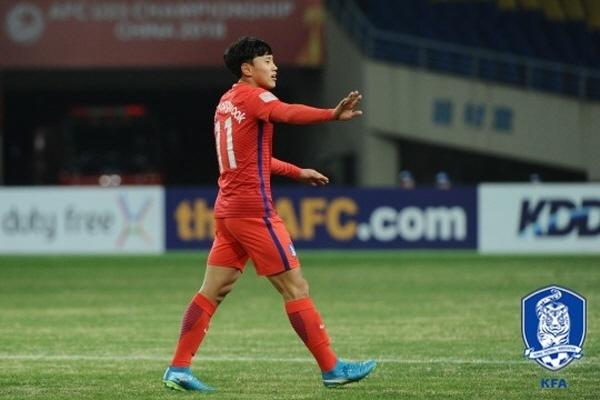 한국 U-23 대표팀, 무기력한 공격력...시리아와 득점 없이 전반 마무리
