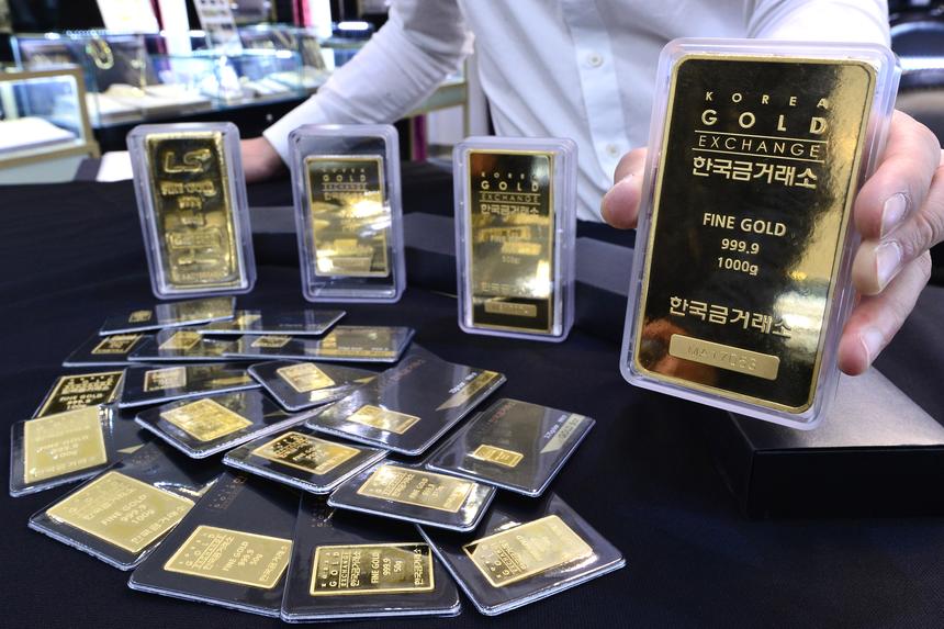 한반도 정세불안에 '100g 미니 골드바' 판매 5배 급증