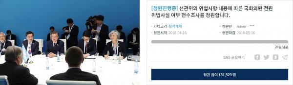 김기식 낙마 후폭풍… `국회의원 위법 전수조사` 靑청원 하루만에 13만명