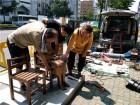 노동자상 설치 과정서 파손된 부산 소녀상 수리 완료