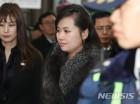 서울행 KTX에 오르는 현송월 단장