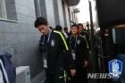 로스토프라마다호텔 들어서는 한국축구대표팀