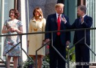 트럼프 부부, 핀란드 대통령 부부와 기념촬영