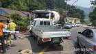 남해서, 포터·레미콘 차량 충돌…1명 사망