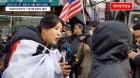"""""""박근혜 석방이 애국과…"""" 강유미, 이번엔 '태극기 집회'서 돌직구 질문 (영상)"""