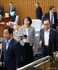 [사진]퇴장하는 자유한국당 의원들