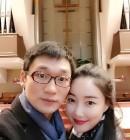 """""""가족이 생겨 기뻐"""" 낸시랭·왕진진, 설 연휴 예배 데이트"""